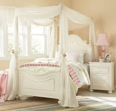 amber twin canopy bed  antique white  leon's