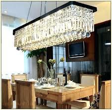 rectangular crystal chandelier modern