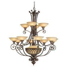 stirling castle 13 light british bronze multi tier chandelier shade