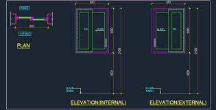 1265x645 upvc sliding window cad detail plan n design