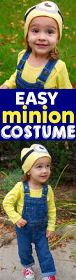 this minion costume is so easy to make the perfect homemade costume with