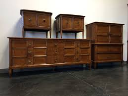 SOLD OUT - HENREDON 'Sequent' Mid Century Burl Wood Bedroom Set