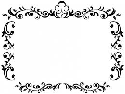 エレガントな白黒のフレーム飾り枠イラスト02 無料イラスト かわいい