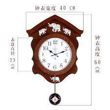 antique german wall clocks pendulum mute wood clock sailing style vintage movement quartz