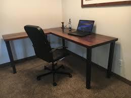 l shaped desk reclaimed wood desk old rustic desk wood and metal desk