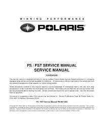 Polaris Vin Chart 2006 Polaris Fs Classis Snowmobile Service Repair Manual