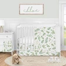 fl leaf baby girl nursery crib