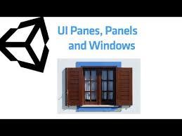 Panes Panels And Windows Unity