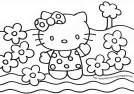 Photo A Colorier Hello Kitty L