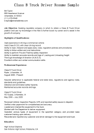 Resume Samples For Truck Drivers With An Objective Truck Driver Resume Resume Badak 1