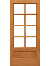 8 lite interior brazilian mahogany 1 panel ig glass single door by aaw interior