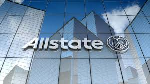 editorial allstate corporation logo on glass building 85887860