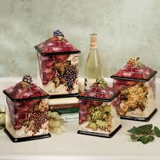 Designer Kitchen Canister Sets Picture Of Beautiful Grapes Kitchen Canister Sets Idea