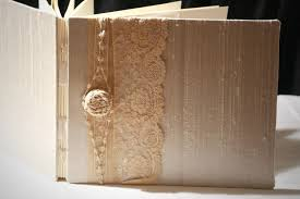 S Guest Book Champagne Gold Lace Wedding Guest Book Alencon Embroidered Lace Personalize Handmade