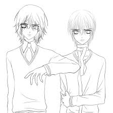 Small Picture vampire knight lineart by himiko Vampires Pinterest Vampire