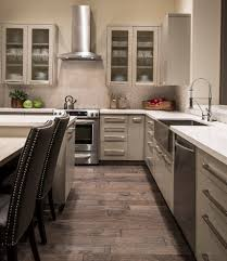 Wood Tile Floor Kitchen Wood Tile Patterns Kitchen Traditional With Brown Felicetta