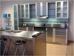 Stainless Steel Kitchen Furniture Kitchen Stainless Steel Kitchens Cabinets Home Interior Design