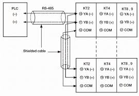 kt4 temperature controllers discontinued products wiring communication function connection diagram plc connection diagram