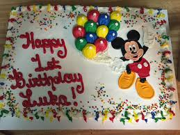 Mickey Mouse First Birthday Sheet Cake Cakecentralcom