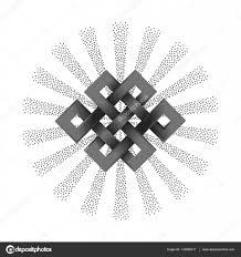Stříbrná Endless Knot Stock Vektor Kronalux 143695017