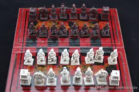 china qin dynasty army style 32 bull bone pieces chess set leather wooden box military action figure army figures toys from chenxinzhijia 42 22 dhgate