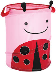Ladybug Bedroom Baby Nursery Cool Dirty Clothes Hampers For Baby Round Red