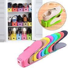<b>Multicolor</b> Shoes Organizer Space-Saving Plastic Storage <b>1 Pcs</b> ...