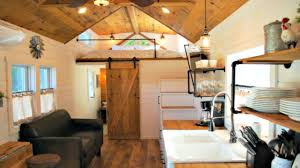 Tiny House On Wheels Modern Farmhouse Interior Floor Level  Loft - Tiny house on wheels interior