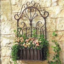 wrought iron wall decor outdoor
