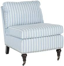 accent chairs color blue with white stripes