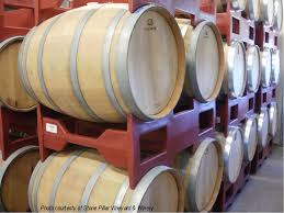 oak barrels stacked top. Snyder Rack-Master. Wine Group Oak Barrels Stacked Top