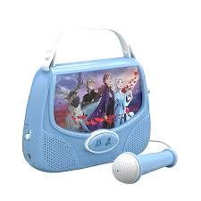 Frozen Light Up Boombox Frozen 2 Portable Mp3 Karaoke Machine Player Sing Along Using The Real Working Microphone Connect To Any Mp3 Device