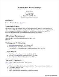Nursing Student Resume Template Free Resume Resume Examples