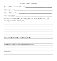 It Incident Report Template Sample Format Computer Form