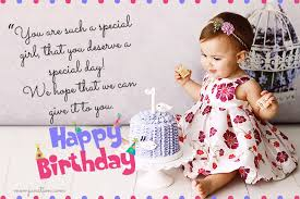 Birthday wishes for baby girl