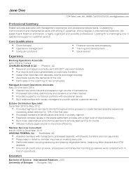 professional banking operations associate templates to showcase resume templates banking operations associate