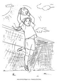 Small Picture Goalkeeper girl colouring page Sport Kleurplaten Pinterest