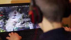 e games gamer playing in dota 2 dota 2 is a free to play