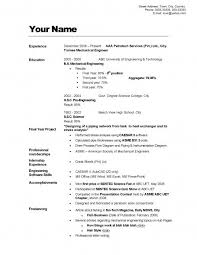 CV / Resume Sample 1