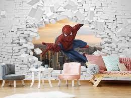 3d wall decal spiderman superhero