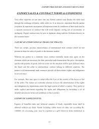 Export Contract Sample Impressive Export Procedureanddocumentationprojectreporton