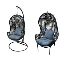 Furnitures:Morale New Cocoon Rattan Hanging Pod Chair Egg Chair Black Hanging  Egg Shaped Chair
