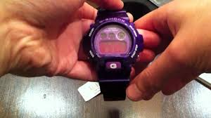 G Shock 3230 Auto Light Casio G Shock Purple Digital Watch Unboxing Dw6900cc 6