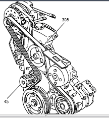 1999 pontiac montana tensioner pulley the bolt that goes through it graphic