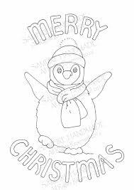 Pinguïn Digitale Download Kerstmis Downloads Kleuren In Kids Etsy