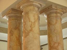 Another Faux Marble on Columns
