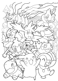 Small Picture All Pokemon anime coloring pages for kids printable free
