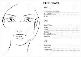 Blank Face Chart Face Chart Makeup Artis Blank Face Charts
