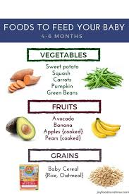 Starting Baby On Solids Chart How To Introduce Solid Foods To Your Baby 4 6 Months