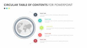 Table Of Contents Design Pinterest With The Circular Table Of Contents For Powerpoint You Can